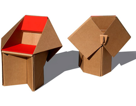 Как сделать складную мебель из бумаги